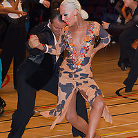 Djordje Tanasijevic and Emma Tanasijevic from Serbia perform their dance during the amateur latin-american competition of the International Championships held in Brentwood Leasure Centre, Brentwood, United Kingdom. Tuesday, 11. October 2011. ATTILA VOLGYI