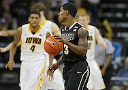 February 27 2013: Purdue Boilermakers guard Ronnie Johnson (3) with the ball during the first half of the NCAA basketball game between the Purdue Boilermakers and the Iowa Hawkeyes at Carver-Hawkeye Arena in Iowa City, Iowa on Wednesday, February 27 2013.