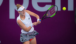 February 12, 2019 - Doha, QATAR - Alison Riske of the United States in action during the first round of the 2019 Qatar Total Open WTA Premier tennis tournament (Credit Image: © AFP7 via ZUMA Wire)