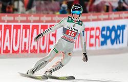 29.12.2015, Schattenbergschanze, Oberstdorf, GER, FIS Weltcup Ski Sprung, Vierschanzentournee, Bewerb, im Bild Domen Prevc (SLO) // Domen Prevc of Slovenia reacts after his 2nd Competition Jump of Four Hills Tournament of FIS Ski Jumping World Cup at the Schattenbergschanze, Oberstdorf, Germany on 2015/12/29. EXPA Pictures © 2016, PhotoCredit: EXPA/ JFK
