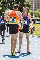 adidas Grand Prix Diamond League Track & Field: mens 5000m, True congratulated by Willis