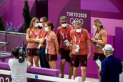 Team Switzerland, Bodenmuller Eveline, Godel Robin, Johner Mélody, Nicholson Andrew, Burger Dominik, Weber Claudia<br /> Olympic Games Tokyo 2021<br /> © Hippo Foto - Dirk Caremans<br /> 30/07/2021