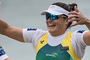 Lucerne, SWITZERLAND.<br /> <br /> AUS . W2X.  right Sally KEHOE, about to hug her silver medalist partner, Genevieve HORTON, Finals day. 2016 FISA WCII. Lake Rotsee<br /> <br /> Sunday  29/05/2016<br /> <br /> [Mandatory Credit; Peter SPURRIER/Intersport-images]