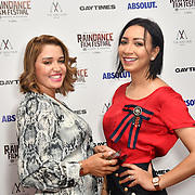 Mariam Bensoussane and Fatima Anida attends Raindance Film Festival Gay Times Gala screening - George Michael: Freedom (The Director's Cut) London, UK. 4th October 2018.