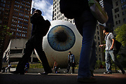 "Tony Tasset's ""Eye"" on Thursday September 16, 2010.<br /> <br /> (William DeShazer/ Chicago Tribune) B58718370Z.1<br /> ....OUTSIDE TRIBUNE CO.- NO MAGS,  NO SALES, NO INTERNET, NO TV, NEW YORK TIMES OUT, CHICAGO OUT, NO DIGITAL MANIPULATION..."