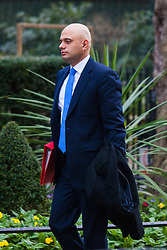Downing Street, London, January 27th 2015. Ministers attend the weekly cabinet meeting at Downing Street. PICTURED: Sajid Javid MP<br /> Secretary of State for Culture, Media and Sport