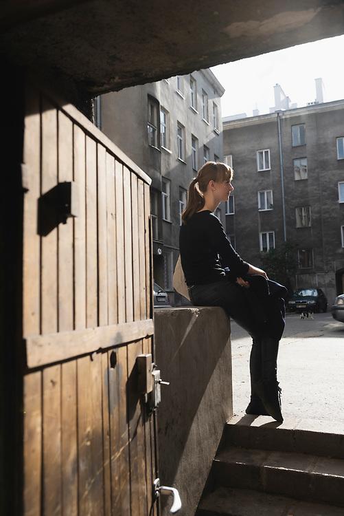 Karolina Szenk, photographed in the Praga district of Warsaw, Poland. (September 2015)
