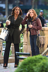 May 8, 2019 - New York, NY, USA - May 8, 2019 New York City..Karen Pittman and Reese Witherspoon were seen on location filming 'The Morning Show' on May 8, 2019 in New York City. (Credit Image: © Kristin Callahan/Ace Pictures via ZUMA Press)