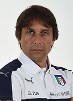 FLORENCE, ITALY - JUNE 01:  Antonio Conte of Italy poses for a photo ahead of the UEFA Euro 2016 at Coverciano on June 1, 2016 in Florence, Italy.  Foto Claudio Villa/FIGC Press Office/Insidefoto