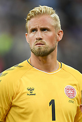July 1, 2018 - Nizhny Novgorod, Russia - Kasper Schmeichel of Denmark during the 2018 FIFA World Cup Round of 16 match between Croatia and Denmark at Nizhny Novgorod Stadium in Nizhny Novgorod, Russia on July 1, 2018  (Credit Image: © Andrew Surma/NurPhoto via ZUMA Press)