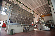 Nosedo, Milano : Impianto di depurazione delle acque reflue. Nella foto impianto per l'essiccamento dei fanghi.Nosedo Waste Water Treatment plant. Thermal sludge drying.
