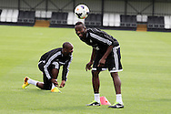 Roland Lamah of Swansea city in action. Swansea city FC team training in Llandore, Swansea,South Wales on Thursday 15th August 2013. The team are preparing for the opening weekend of the Barclays premier league when they face Man Utd. pic by David Richards,  Andrew Orchard sports photography,