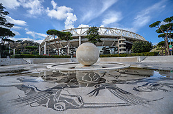 March 12, 2018 - Rome, Italy - The Walk of Fame is enriched with 5 more samples. Along the Via Olimpiadi, which leads straight to the Olympic stadium in Rome, new plates have been added dedicated to five blue champions no longer in business: the historic Milan captain and national defender, Paolo Maldini, the swimmer Massimiliano Rosolino, the middle distance runner Luigi Beccali, the cyclist Ercole Baldini and the volleyball player Samuele Papi, on march 12, 2018 in Rome, Italy. (Credit Image: © Silvia Lore/NurPhoto via ZUMA Press)