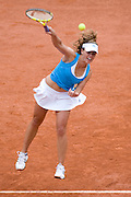 Paris, France. May 29th 2009. .Roland Garros - Tennis French Open. 3rd Round..Portuguese player Michelle Larcher de Brito against Aravane Rezai