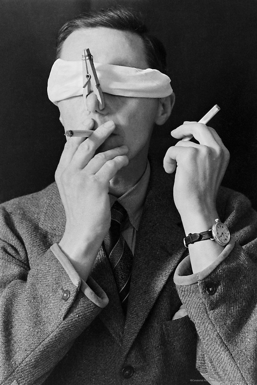 Testing the Senses: Smell.  Smoking, England, 1935