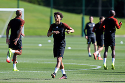 Leroy Sane of Manchester City warms up - Mandatory by-line: Matt McNulty/JMP - 23/08/2016 - FOOTBALL - Manchester City - Training session ahead of Champions League qualifier against Steaua Bucharest