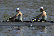 Hazenwinkel, BELGIUM,  Men's Pair, [ M2-],  Bow: Pete CHAMPION and Oli de GROOT, in the last strokes of the morning time trial, at the GB Rowing Senior Trials, on Sun,15.04.2007  [Credit, Peter Spurrier/Intersport-images]   [Mandatory Credit, Peter Spurier/ Intersport Images]. , Rowing Course, Bloso, Hazewinkel. BELGUIM