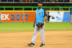 Jamie Foxx participates in the 2017 MLB All-Star Legends & Celebrity Softball Game at Marlins Park in Miami, Florida. Jamie played with the cameras and fans as he hiked his baseball pants up high and picked his seat for a few laughs. 09 Jul 2017 Pictured: Jamie Foxx participates in the 2017 MLB All-Star Legends & Celebrity Softball Game at Marlins Park in Miami, Florida. Jamie played with the cameras and fans as he hiked his baseball pants up high and picked his seat for a few laughs. Photo credit: Ralph Notaro / MEGA TheMegaAgency.com +1 888 505 6342