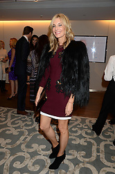 KIM HERSOV at a reception to launch the range of Dr Lancer beauty products held at The Penthouse, Harrods, Knightsbridge, London on 16th September 2013.