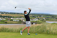 Dean McMahon (Castletroy) on the 9th tee during Matchplay Round 1 of the South of Ireland Amateur Open Championship at LaHinch Golf Club on Friday 22nd July 2016.<br /> Picture:  Golffile | Thos Caffrey<br /> <br /> All photos usage must carry mandatory copyright credit   (© Golffile | Thos Caffrey)