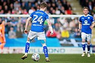 Chesterfield defender Andy Kellett (24) with blood coming from an arm wound the EFL Sky Bet League 2 match between Chesterfield and Notts County at the Proact stadium, Chesterfield, England on 25 March 2018. Picture by Nigel Cole.