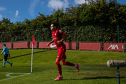 LIVERPOOL, ENGLAND - Wednesday, September 15, 2021: Liverpool's Kaide Gordon runs out for the second half during the UEFA Youth League Group B Matchday 1 game between Liverpool FC Under19's and AC Milan Under 19's at the Liverpool Academy. Liverpool won 1-0. (Pic by David Rawcliffe/Propaganda)