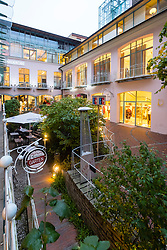 Rosenhofe courtyard at Hackescher Hof historic retail and residential area in Hackescher Mart in  Mitte Berlin Germany
