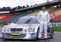 07.11.2001 Hockenheim, Deutschland,<br />Ex-Formel 1 Fahrer Jean Alesi am Mittwoch (07.11.2001) bei Testfahrten im AMG Mercedes CLK auf dem Hockenheimring. © Jerg/Digitalsport