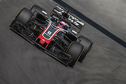 May 11, 2018 - Barcelona, Catalonia, Spain - ROMAIN GROSJEAN (FRA) drives during the first practice session of the Spanish GP at Circuit de Catalunya in his Haas VF-18 (Credit Image: © Matthias Oesterle via ZUMA Wire)