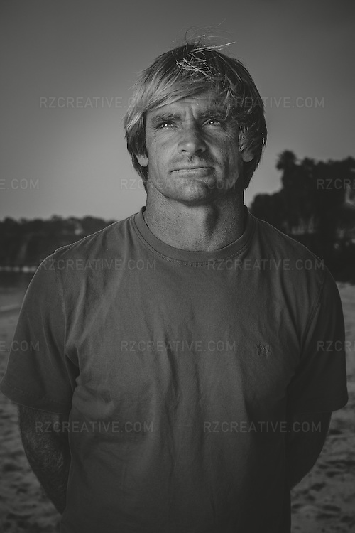 Portrait of surfer Laird Hamilton photographed on assignment in Malibu, Calif. Photo by Robert Zaleski/rzcreative.com