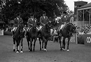 07/08/1987<br /> 08/07/1987<br /> 07 August 1987<br /> Bank of Irelands Nations Cup for the Aga Khan ropey competition. The Australian team.