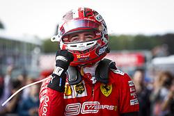 September 1, 2019, Spa-Francorchamps, Belgium: Scuderi Ferrari driver CHARLES LECLERC of Monaco celebrates winning his first Formula One race, the Grand Prix of Belgium. (Credit Image: © Hoch Zwei via ZUMA Wire)