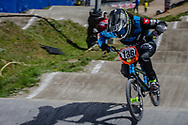 #136 (LACK Saskja) SUI during round 4 of the 2017 UCI BMX  Supercross World Cup in Zolder, Belgium.