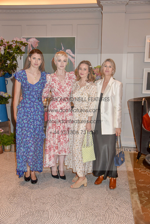 Left to right, Sabrina Percy, Portia Freeman, Kelly Eastwood and Sadie Mantovani at the Belmond Cadogan Hotel Grand Opening, Sloane Street, London England. 16 May 2019. <br /> <br /> ***For fees please contact us prior to publication***