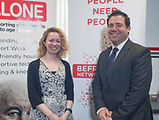 NO FEE PICTURES                                                                                                                                                30/5/19 Community groups from across Ireland attended the Befriending Network Ireland (BNI) seminar in Dublin's Guinness Enterprise Centre on Thursday, which discussed the development of a sustainable community sector. Pictured are Caroline Malone, Alone and Padraic Vallaley, Social Innovation Fund Ireland. Picture: Arthur Carron