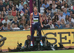 Kevin Mayer of France in the Decathlon discus throw during day nine of the 2017 IAAF World Championships at the London Stadium in London, UK, on Saturday August 12, 2017. Photo by Giuliano Bevilacqua/ABACAPRESS.COM