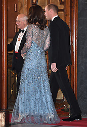 The Duke and Duchess of Cambridge attend the Royal Variety Performance at the Palladium Theatre, London, UK, on the 24th November 2017. 24 Nov 2017 Pictured: Catherine, Duchess of Cambridge, Kate Middleton, Prince William, Duke of Cambridge. Photo credit: James Whatling / MEGA TheMegaAgency.com +1 888 505 6342