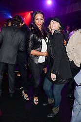 Left to right, JADE JOHNSON and ANNA WINSLET at a party to celebrate the 1st birthday of nightclub 2&8 at Mortons held in Berkeley Square, London on 3rd October 2013.