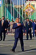 Ashgabat, Turkmenistan, October 1997..Saparmurat Niyazov at Independence Day celebrations. Poverty-stricken, but rich in oil and gas resources, this Central Asian former Soviet republic is ruled by the autocratic President Saparmurat Niyazov, or Turkmenbashi as he has renamed himself...............