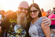 Fans at the Iron Maiden concer at Verizon Wireless Amphitheater in St. Louis on September 8, 2013.