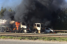 Tanker Crashes into Fire Engine
