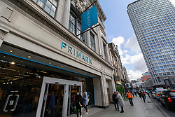 © Licensed to London News Pictures. 16/03/2020. London, UK. A branch of Primark on Oxford Street . Today Primark has been forced to close 20% of its stores after European governments shut down high streets to prevent the spread of coronavirus .Photo credit: George Cracknell Wright/LNP