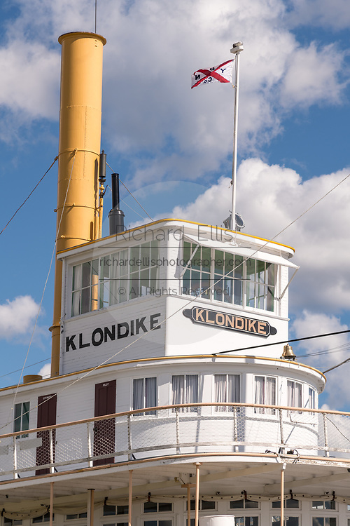 The S.S. Klondike National Historic Site in Whitehorse, Yukon, Canada. The sternwheeler operated by the British Yukon Navigation Company operated between Whitehorse and Dawson City during the early twentieth century.