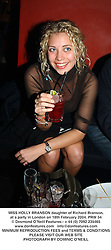 MISS HOLLY BRANSON daughter of Richard Branson, at a party in London on 18th February 2004.PRW 54