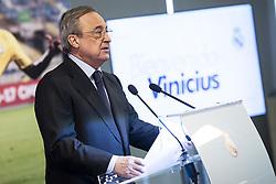 July 20, 2018 - Madrid, Spain - Real Madrid president, Florentino Perez during presentation of Vinicius Jr as new Real Madrid player at Santiago Bernabéu Stadium in Madrid, Spain. July 20, 2018. (COOLMEDIA/BorjaB.Hojas) (Credit Image: © Coolmedia/NurPhoto via ZUMA Press)