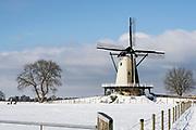 Winter bij Molen de Windhond in Soest