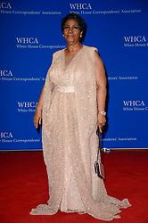 Aretha Franklin arrives at the White House Correspondents' Association (WHCA) annual dinner in Washington, DC,USA, on April 30, 2016. Photo by Riccardo Savi/ABACAPRESS.COM
