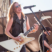 BALTIMORE United States - September 27, 2014: Lzzy Hale of Halestorm, performs at The Shindig, in Baltimore's historic Carroll Park