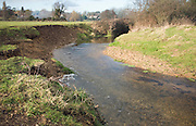 Meander with slip off slope and river cliff, River Deben, Ufford, Suffolk, England