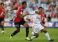 Fotball<br /> Frankrike<br /> Foto: DPPI/Digitalsport<br /> NORWAY ONLY<br /> <br /> FOOTBALL - FRENCH CHAMPIONSHIP 2009/2010 - L1 - LILLE OSC v FC LORIENT - 9/08/2009<br /> <br /> PIERRE AUBAMEYANG (LIL) / JEREMY MOREL (LOR)